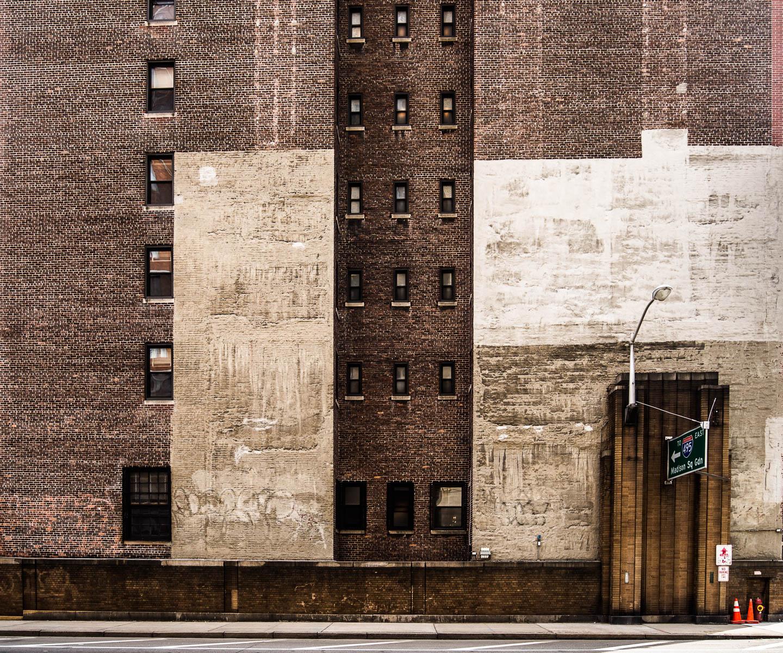 New York Brick Wall Building