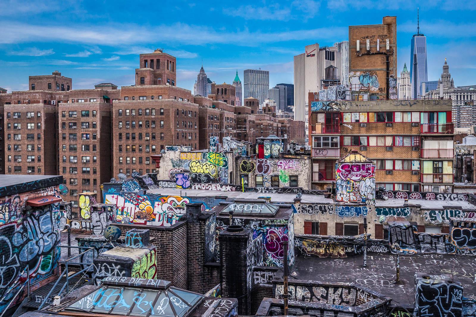 New York Chinatwon Rooftops graffiti