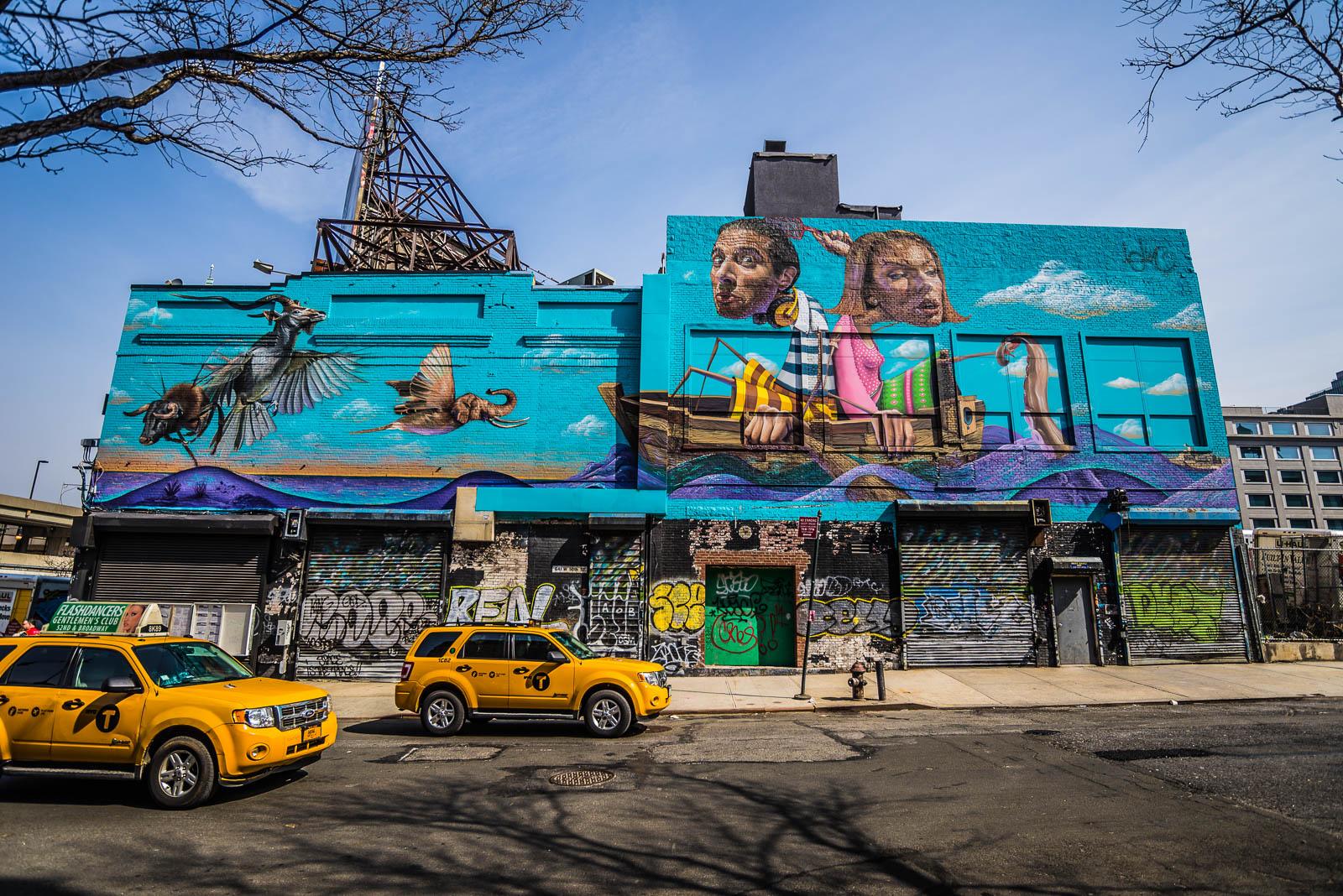 New York City Building Mural