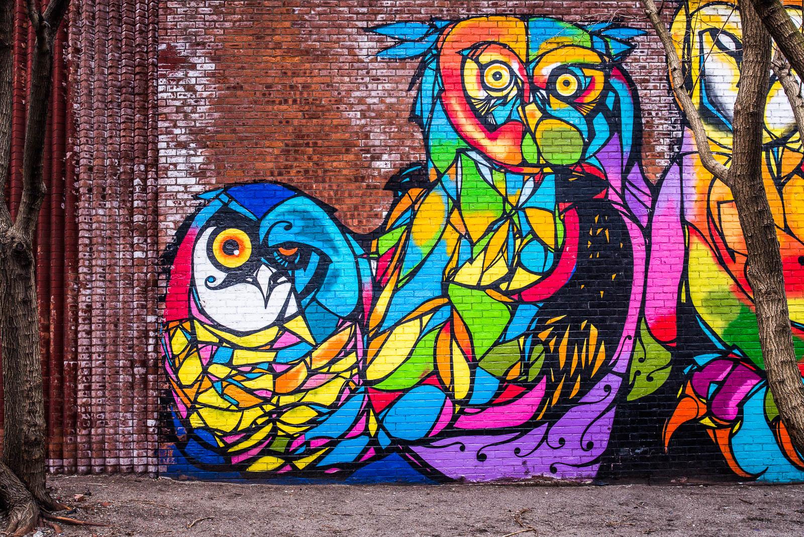 New York Owl Mural