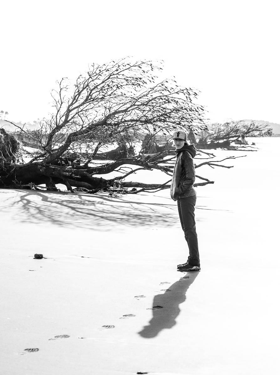 Carters Beach Westport black and white