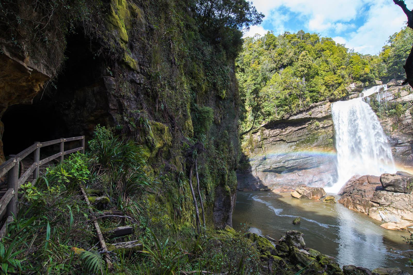Charming Creek Walk Mangatini Falls waterfall
