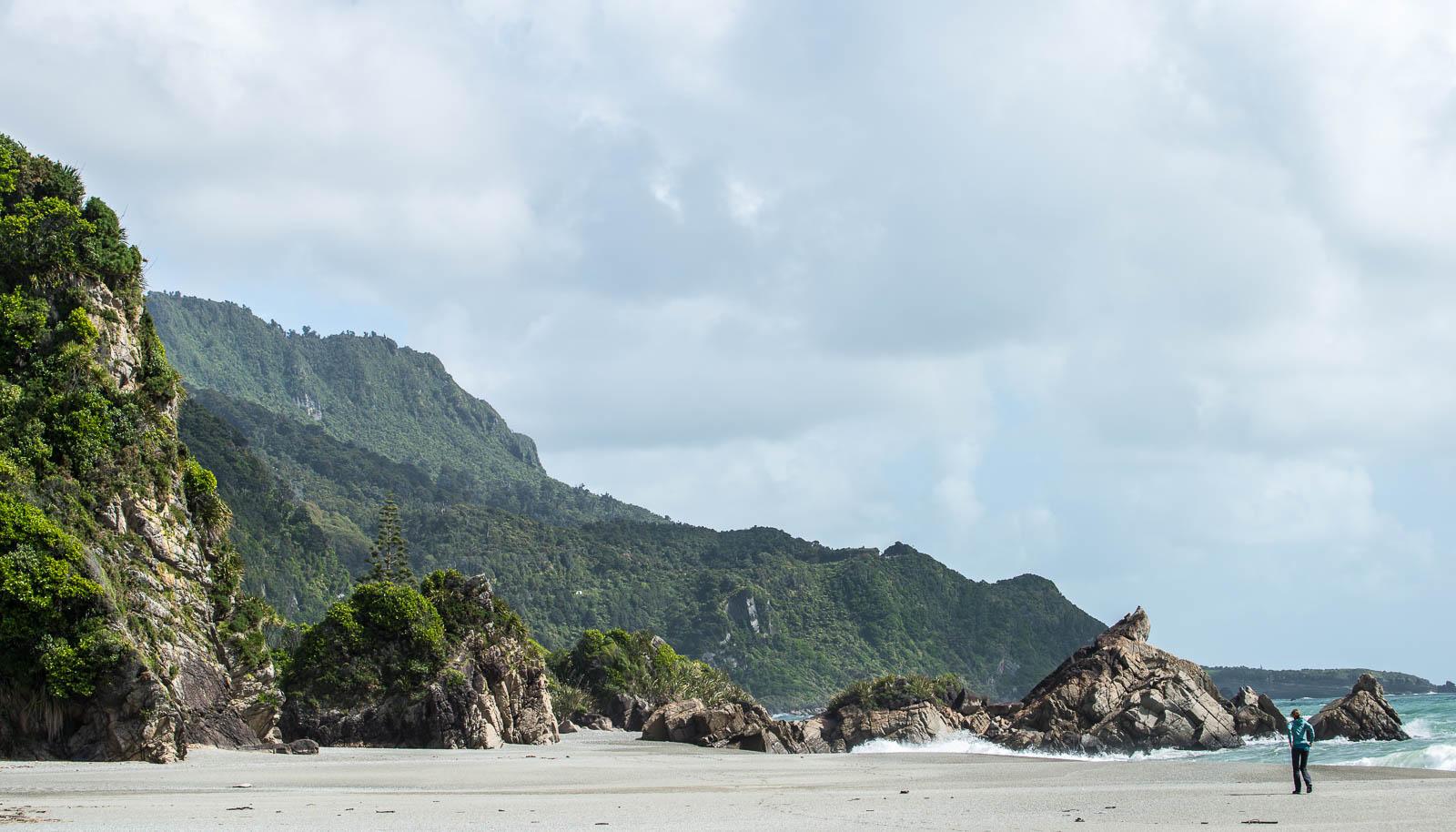 Punakaiki beach rocks