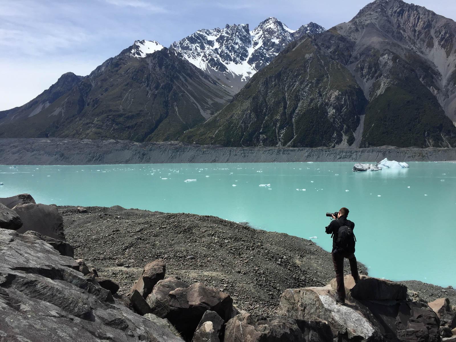 tasman glacier tasman lake photography