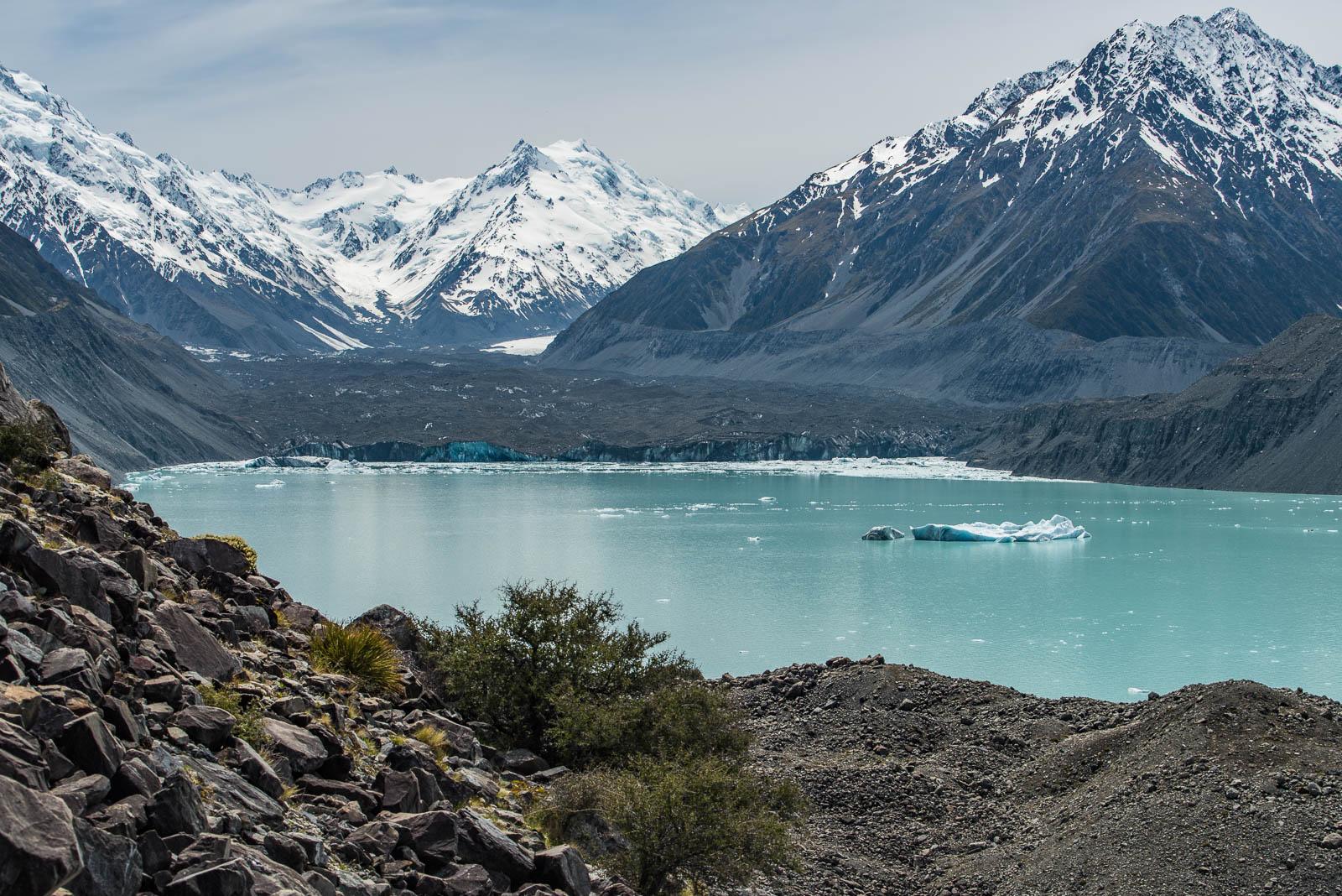 tasman lake tasman glacier
