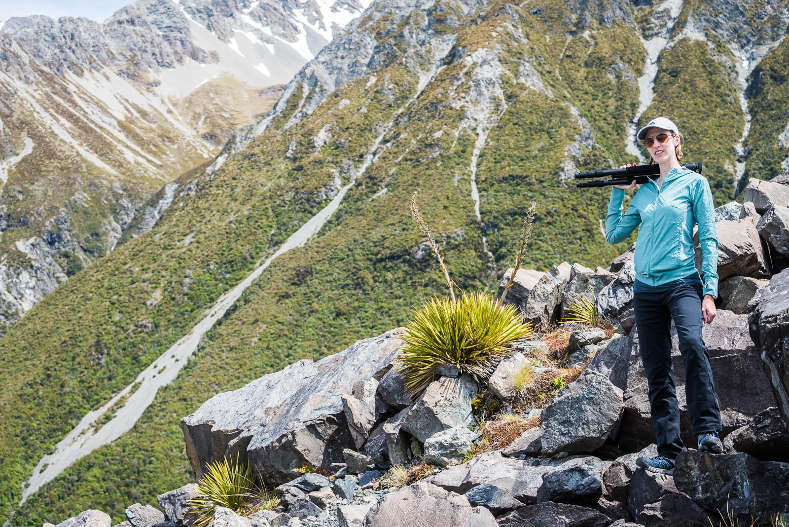 tasman lake tripod hiking